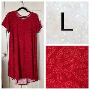 EUC LuLaRoe Carly Dress - Red Paisley